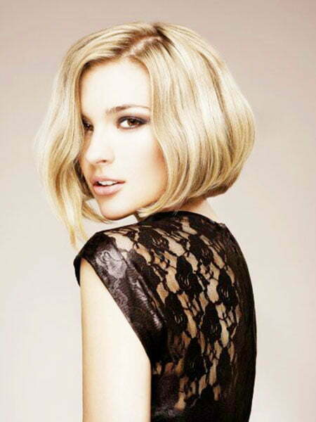 Blonde Asymmetric Bob Hairstyle