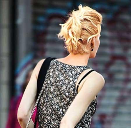 Cute Blonde Interesting Hairstyle