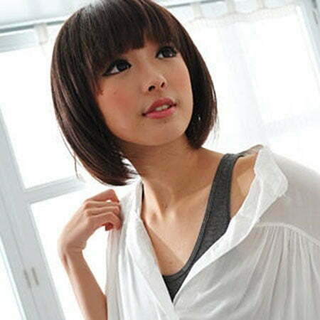The Anese Bangs Cute Short Asian Hairstyles 1