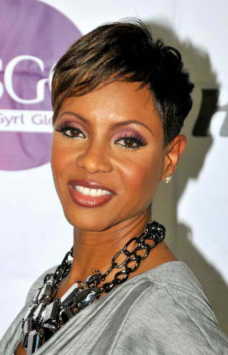 Layered Short Haircut For Black Women