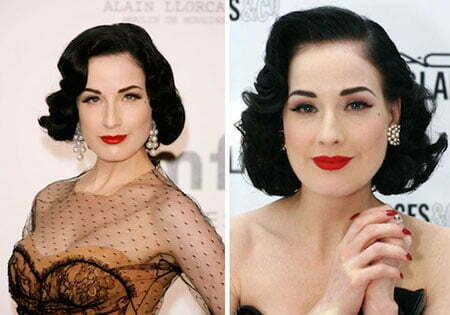 Dita Von Teese Curly Hairstyle