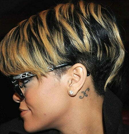 Fantastic Short Hair with Hues of Alternating Colors