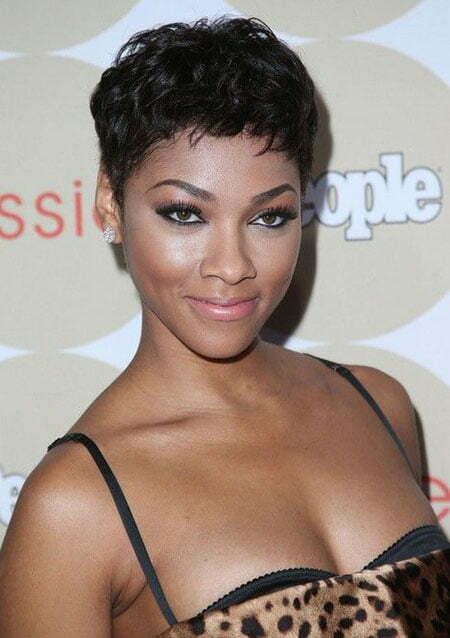 Hot Short Pixie Haircut For Black Women