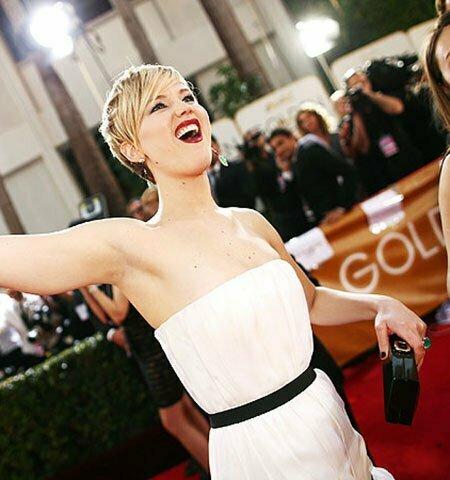 Jennifer Lawrence Short Edgy Hairstyle