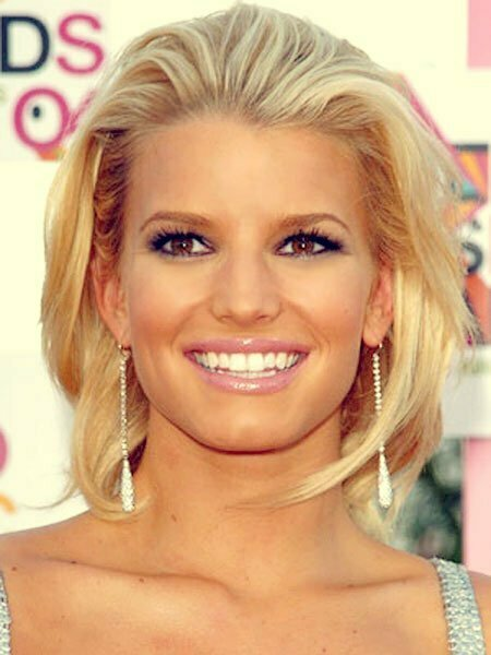 Jessica Simpson Short Blonde Hair