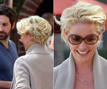 Katherine Heigl Wavy Pixie Cut