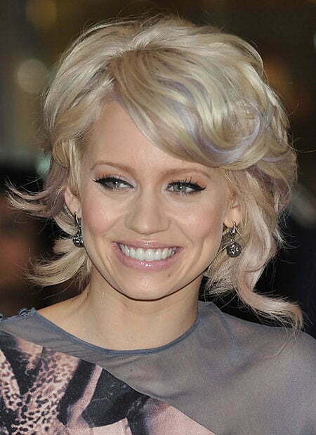 Kimberly Wyatt Messy Curly Hairstyle