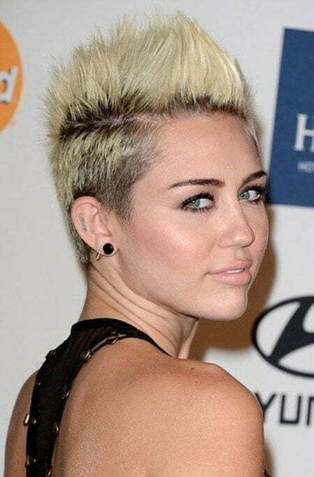 Miley Cyrus Short Blonde Hair 2013