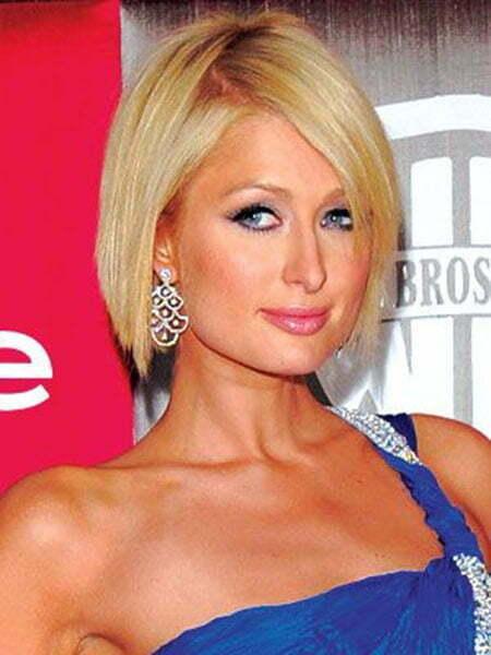 Paris Hilton Short Straight Hair
