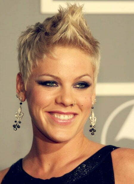 Pink Faux Hawk Haircut