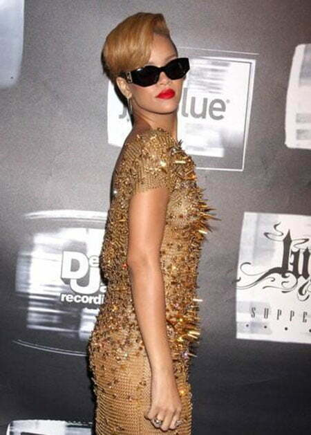 Rihanna Cool Short Hairstyle