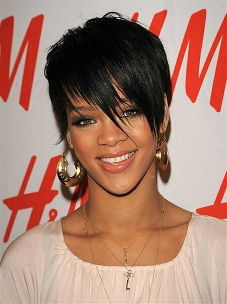 Rihanna Short Hair With Bangs
