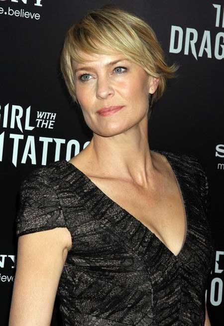 Robin Wright Side-swept Bangs