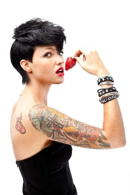 Ruby Rose Pixie Cut with Nice Top Section