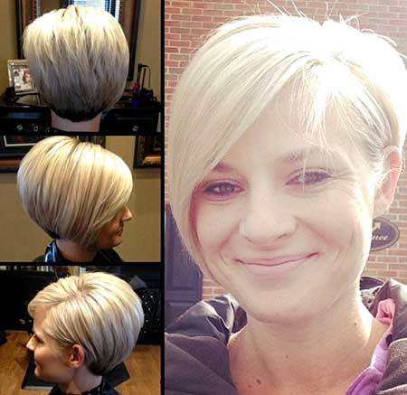 Layered and Long Asymmetrical Blond Pixie Hairdo