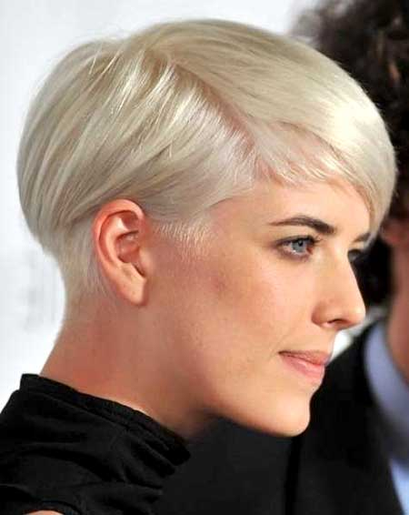 Blonde Colored Short Pixie Haircut for Girls