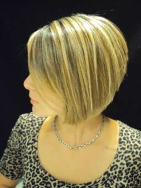 Cute Short Blonde Colored Haircut 2014