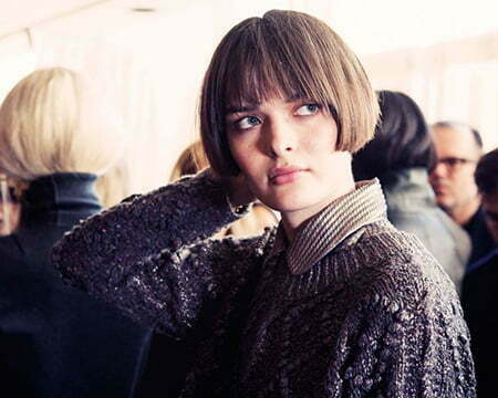 Cute French Styled Bob Hairdo with Blunt Bangs