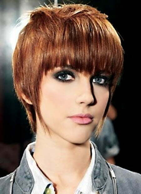 Short Hair with Messy Spiky Top and Medium Bangs
