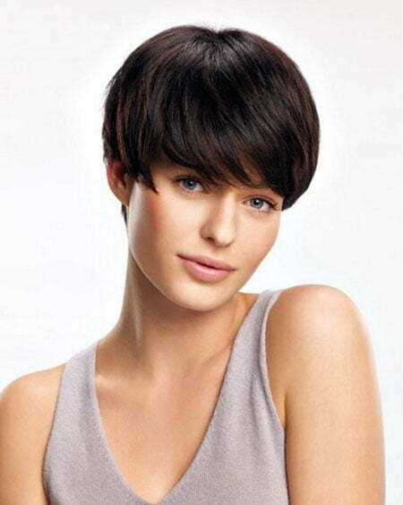 Short Hairstyles Dark Straight Hair