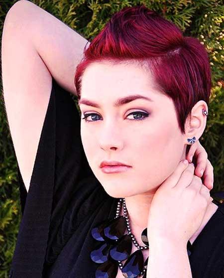 Colored Short Spiky Hairdo for Girls