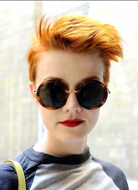 Colored Boyish Hair Idea for 2014 and 2015