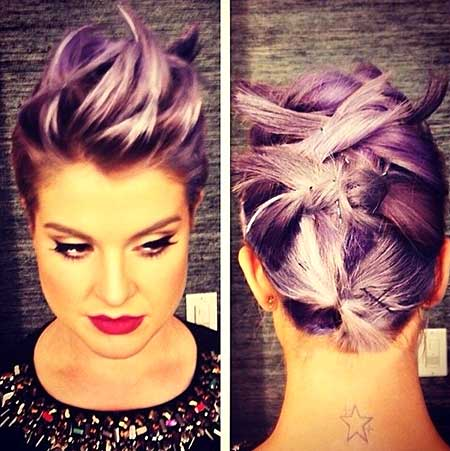 Colored Tied Up Mohawk Hairdo for 2015
