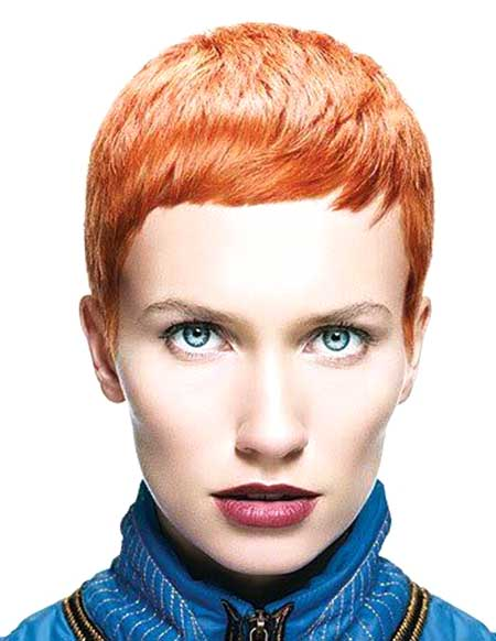 Short Colored Boyish Pixie Hairstyle
