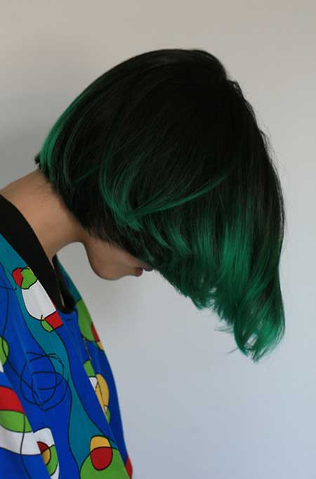 35 short hair color ideas short hairstyles 2016 2017 most amazing and attractive luminous dark spring green with black highlights pmusecretfo Image collections