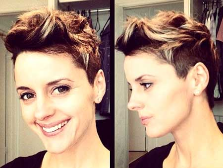 Brown and Blonde Colored Spiky Hairstyle