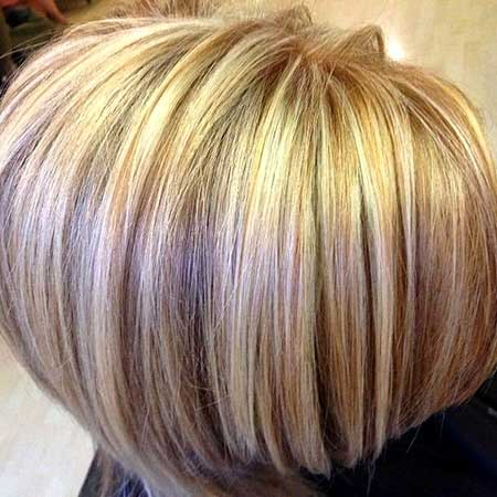 Blonde Colored Short Hair for Girls