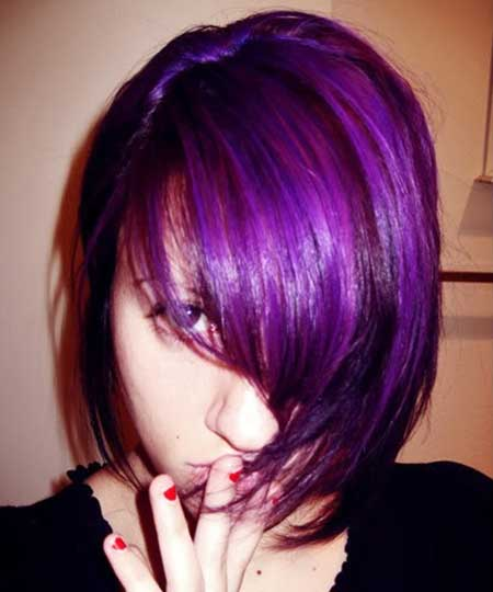 Lavender Colored Short Hair Idea