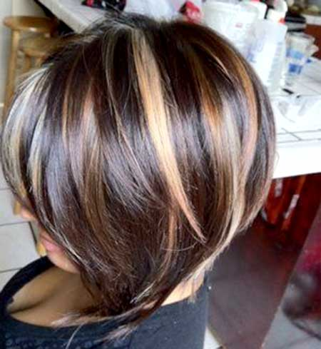Blonde Highlighted Brown Colored Hair