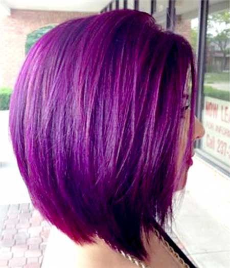Purple Colored Short Hair for Girls