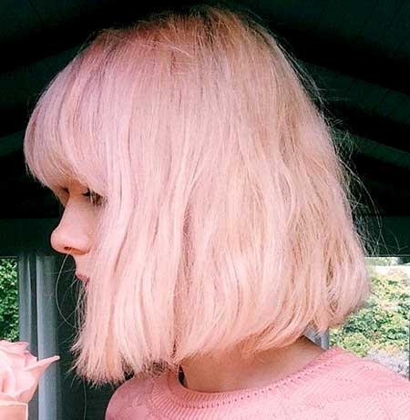Pink Colored Wavy Hair for Women