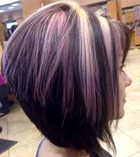 Purple and Peach Highlighted Hair for Women