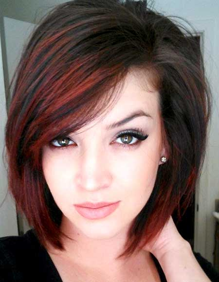 Black Hair with Red Highlights for Girls