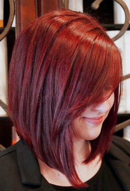 Red Hair Color Idea for Girls with Short Hair