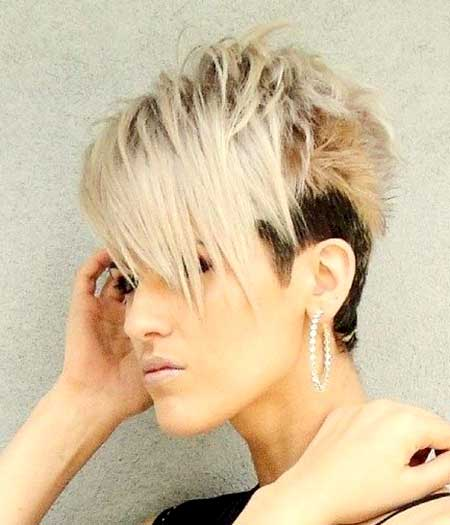 Undercut Hairdo with Blonde Colored Spikes