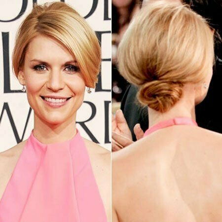 Short Hairstyle with Low Bun