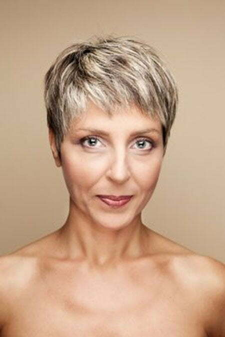 hair women mature short White nude
