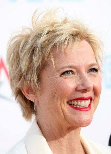 Short Layered Blonde Hair Haircuts For Older Women