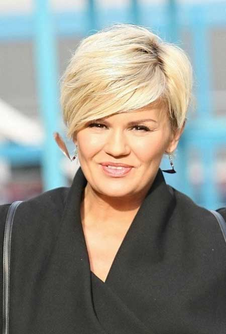 Short Hairstyles Round Faces
