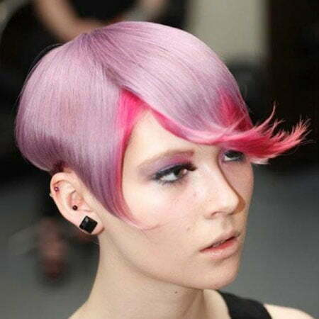 Awesome Lilac and Fuschsia Short Hairstyle