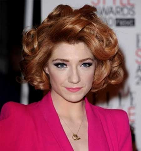 Short Messily Curled In Hairstyle for Girls