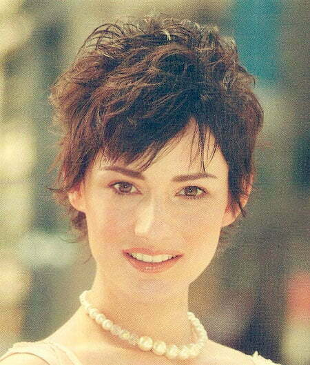 Short Pixie Wavy Hairstyle