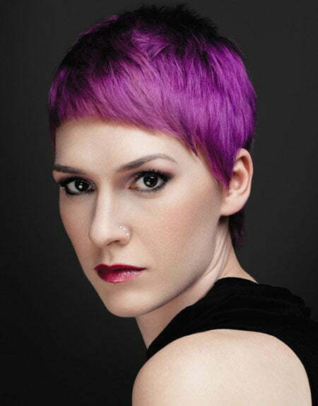 Short Purple Hairstyle