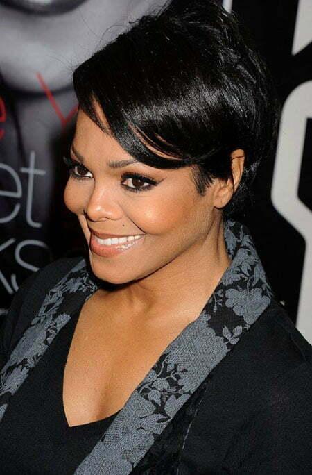 Short Straight Hair Styles For Black Women