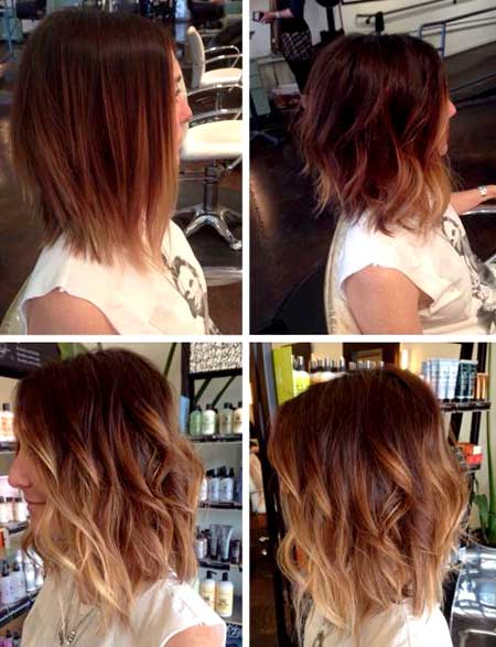Side View of Curly Short to Medium Hairstyle for Girls