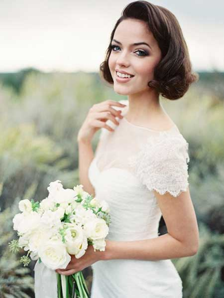 Sensational 25 Wedding Hairstyles For Short Hair Short Hairstyles 2016 Hairstyles For Men Maxibearus